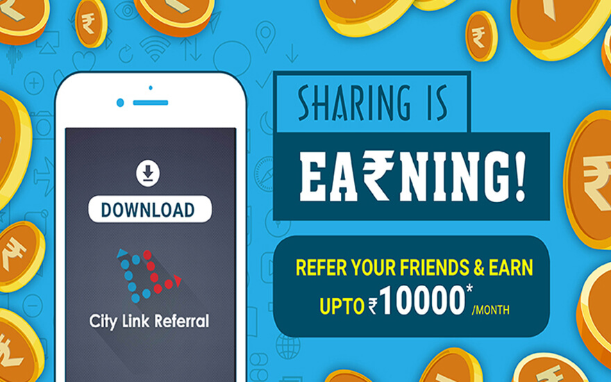 City Link Refer and earn app