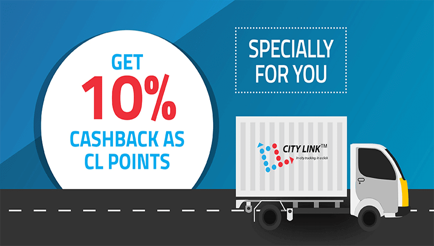 Book a truck and get cashback